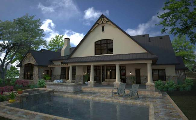 French Country House Plan 4 Bedrooms 3 Bath 3880 Sq Ft