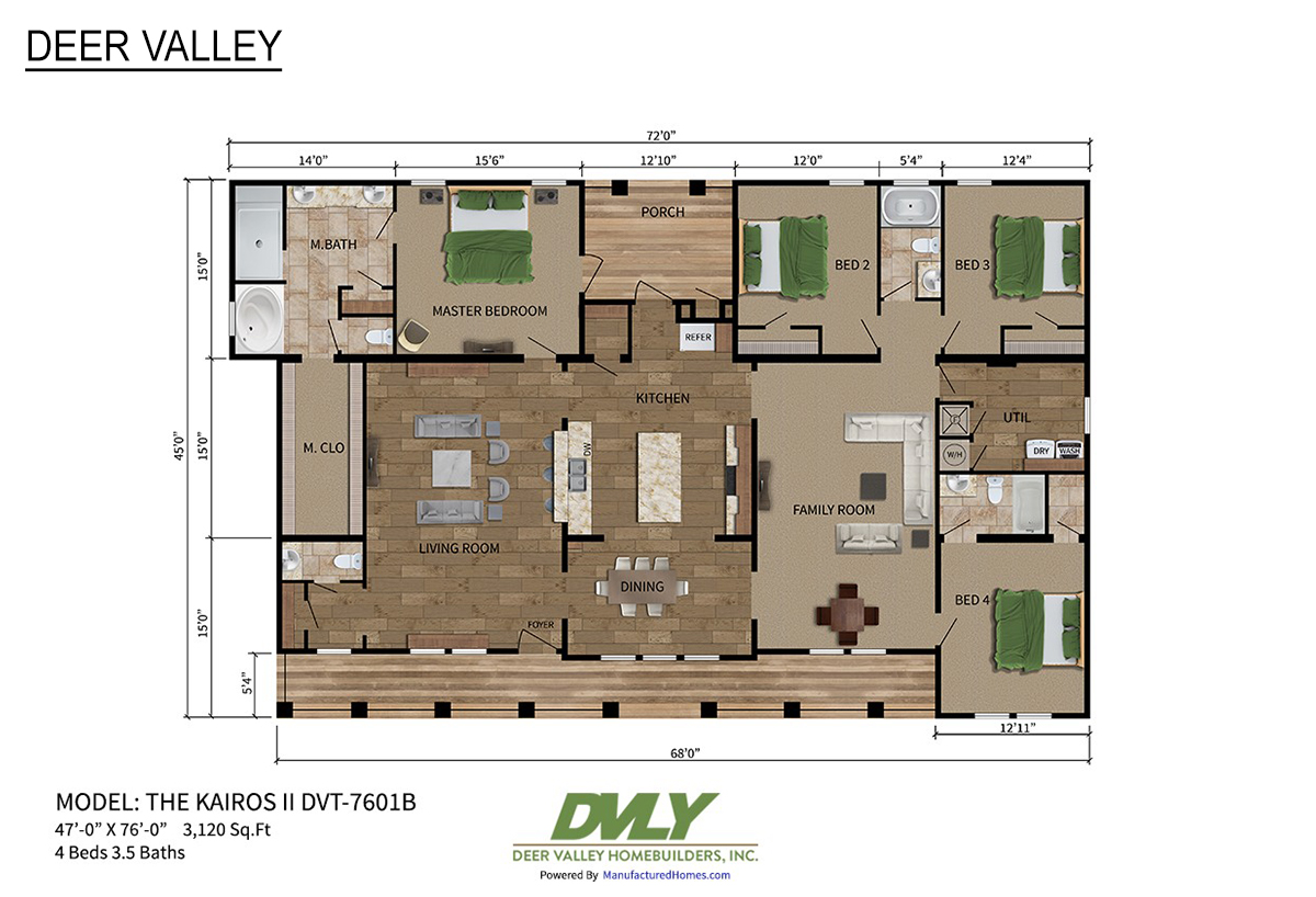 Deer Valley Series / Kairos II DVT-7601B By Deer Valley
