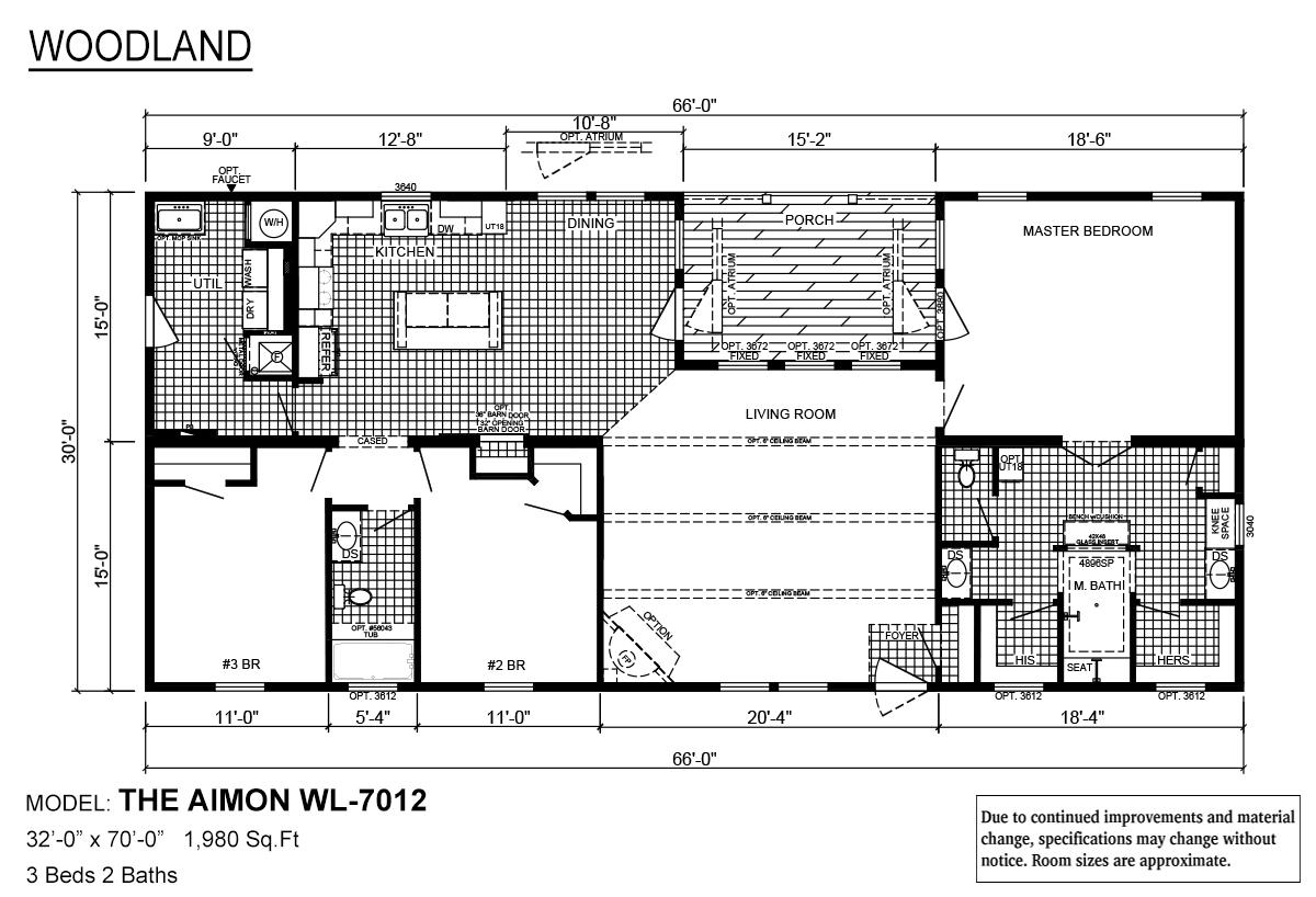 Woodland Series / Aimon WL-7012 By Deer Valley Homebuilders
