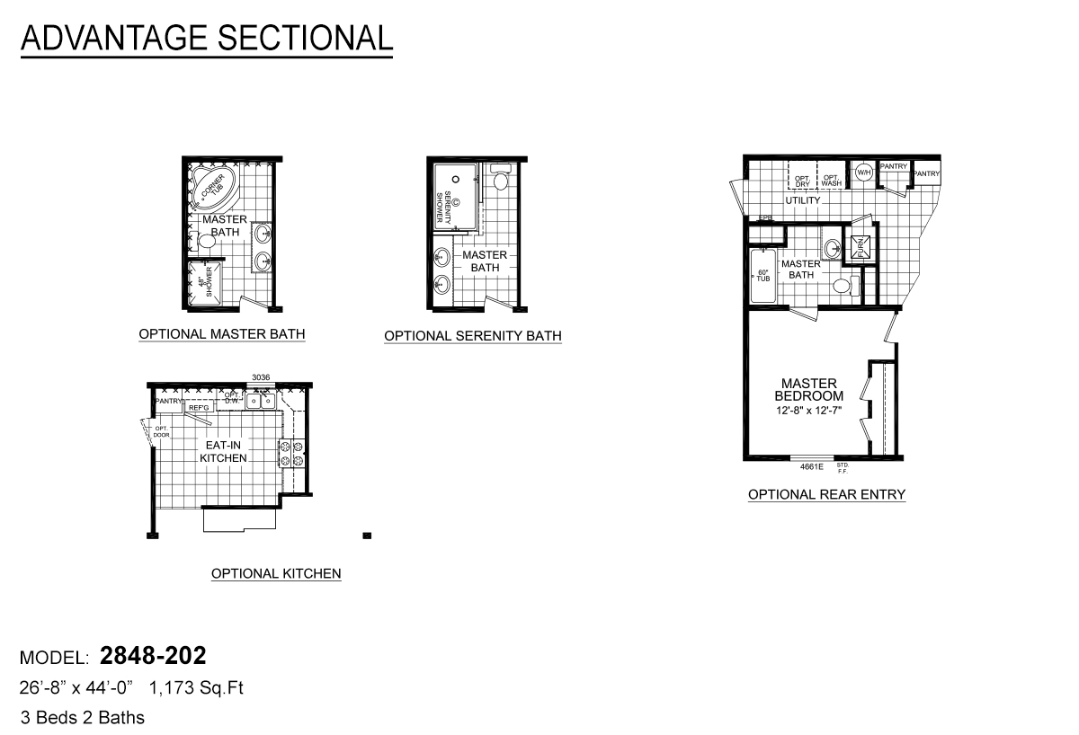 Advantage Sectional 202 By Redman Homes Topeka