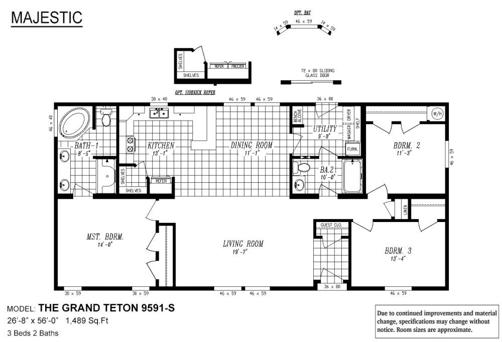 medium resolution of majestic the grand teton layout