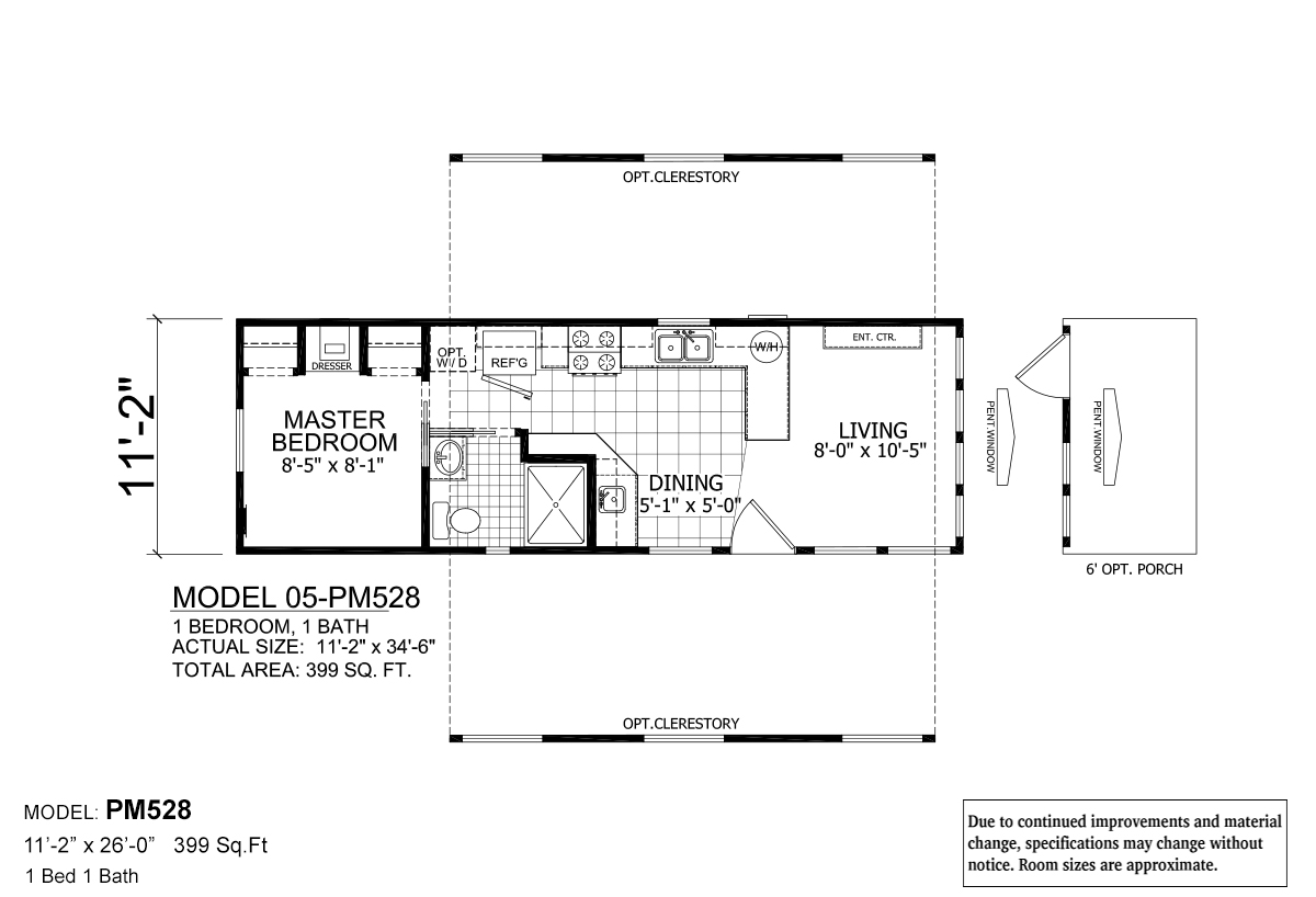 Park Model RV  528 by Athens Park Homes