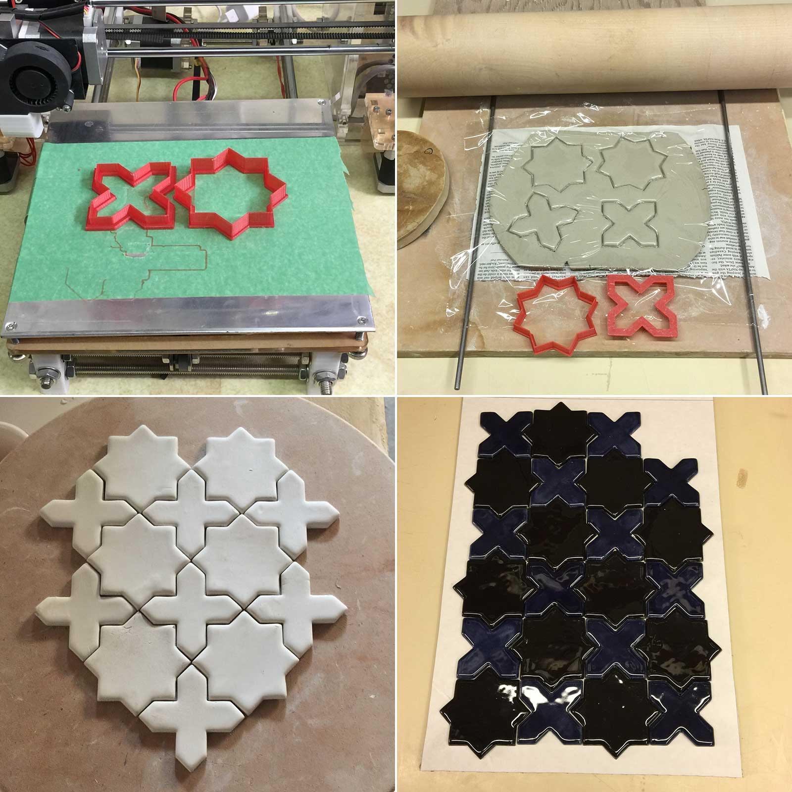 making ceramic tile shapes