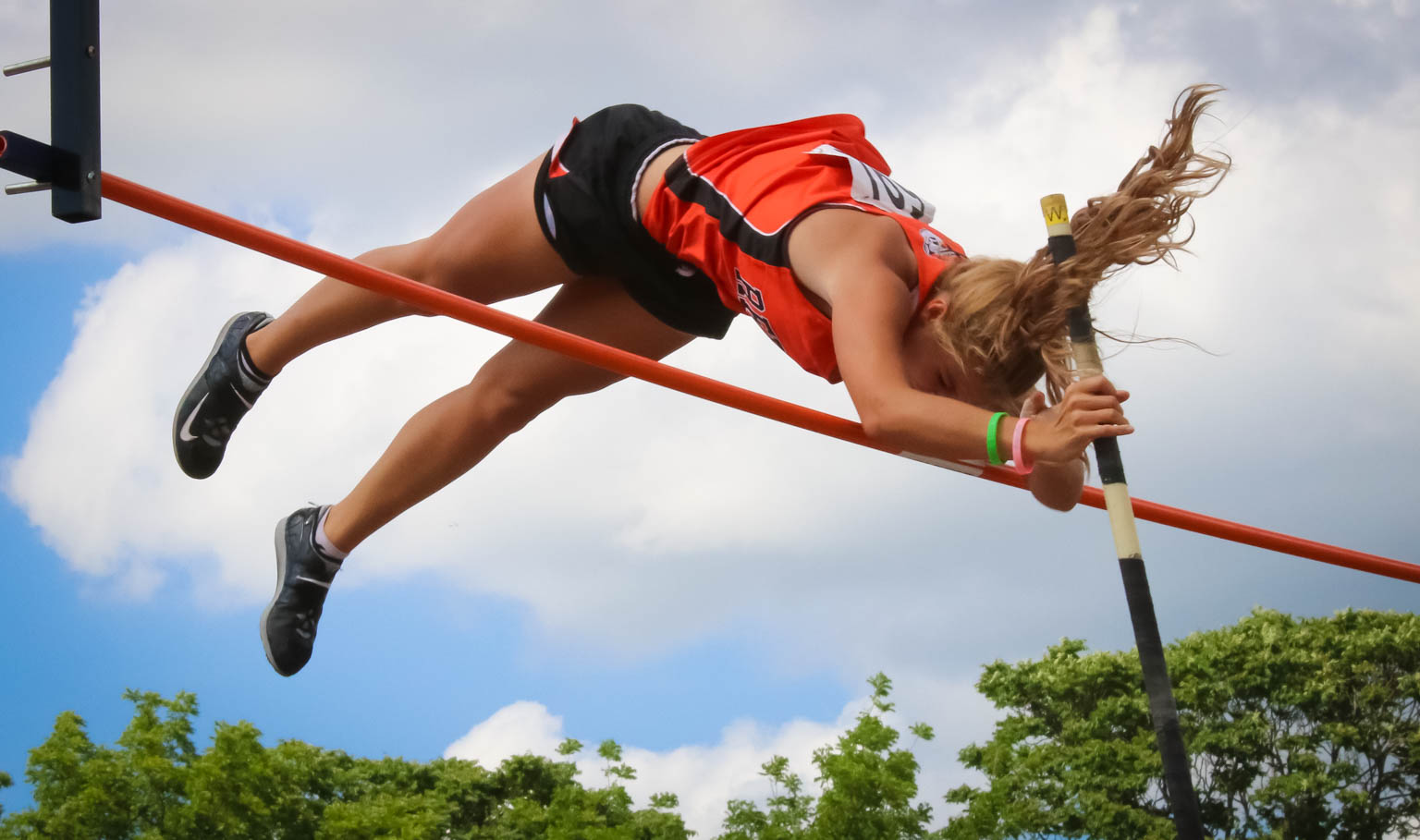 Victorious Vaulter: Lander Leads 3 All-State Track Tigers