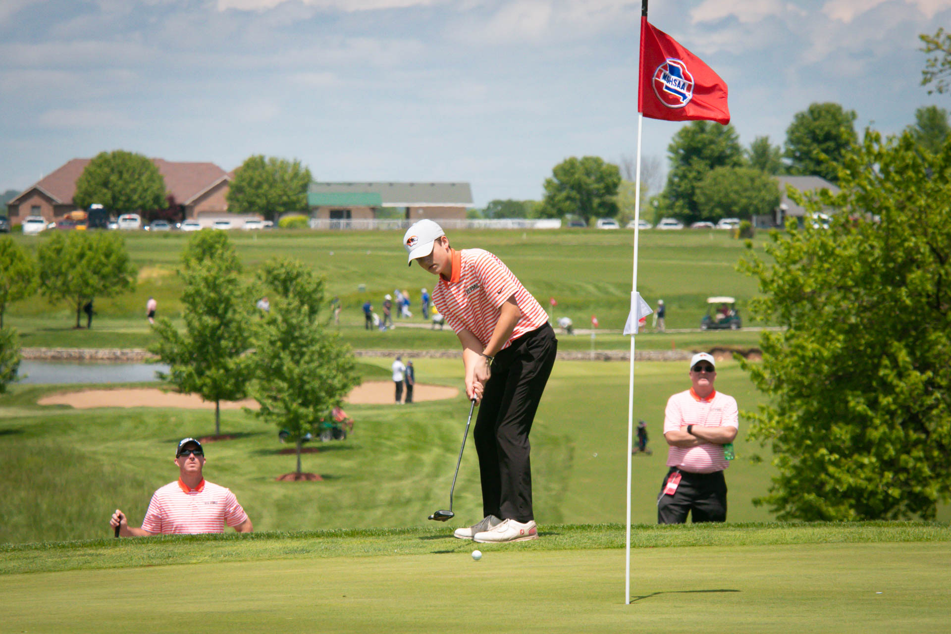 Frey In Top Half Of Field Midway Through State Tourney (Photos)