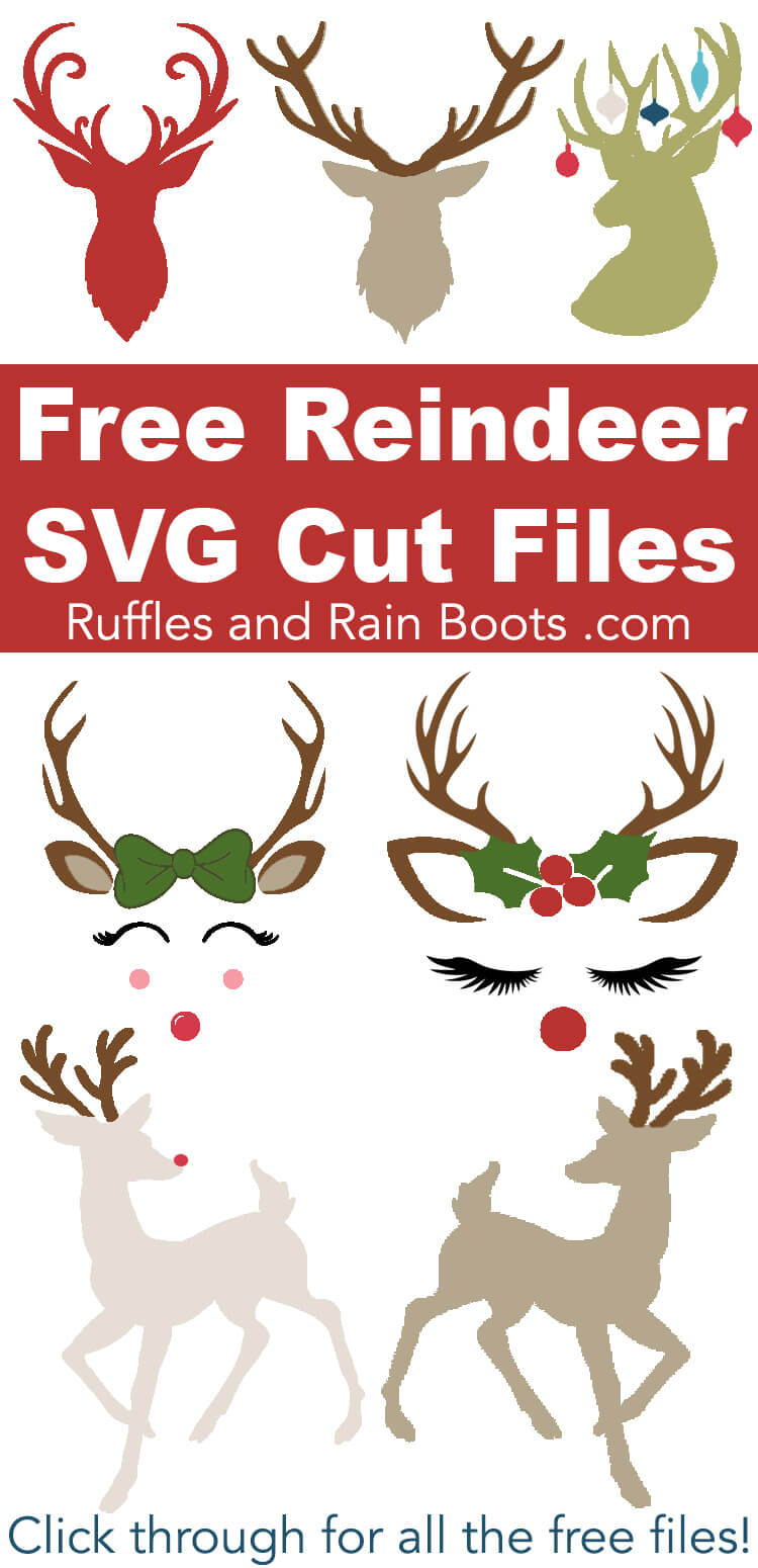 Download Free Reindeer SVGs and Antler SVGs for Christmas Crafts