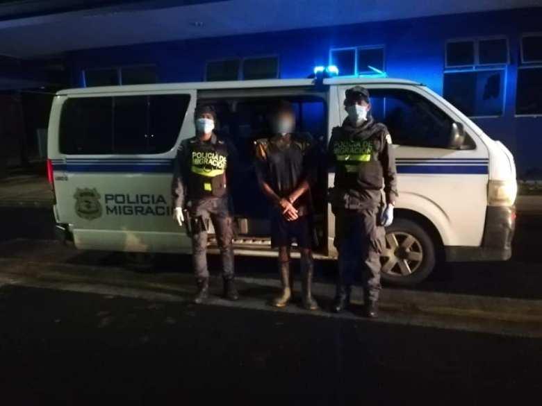 El nicaragüense la noche que fue capturado por las autoridades de Costa Rica. HOY/Cortesía