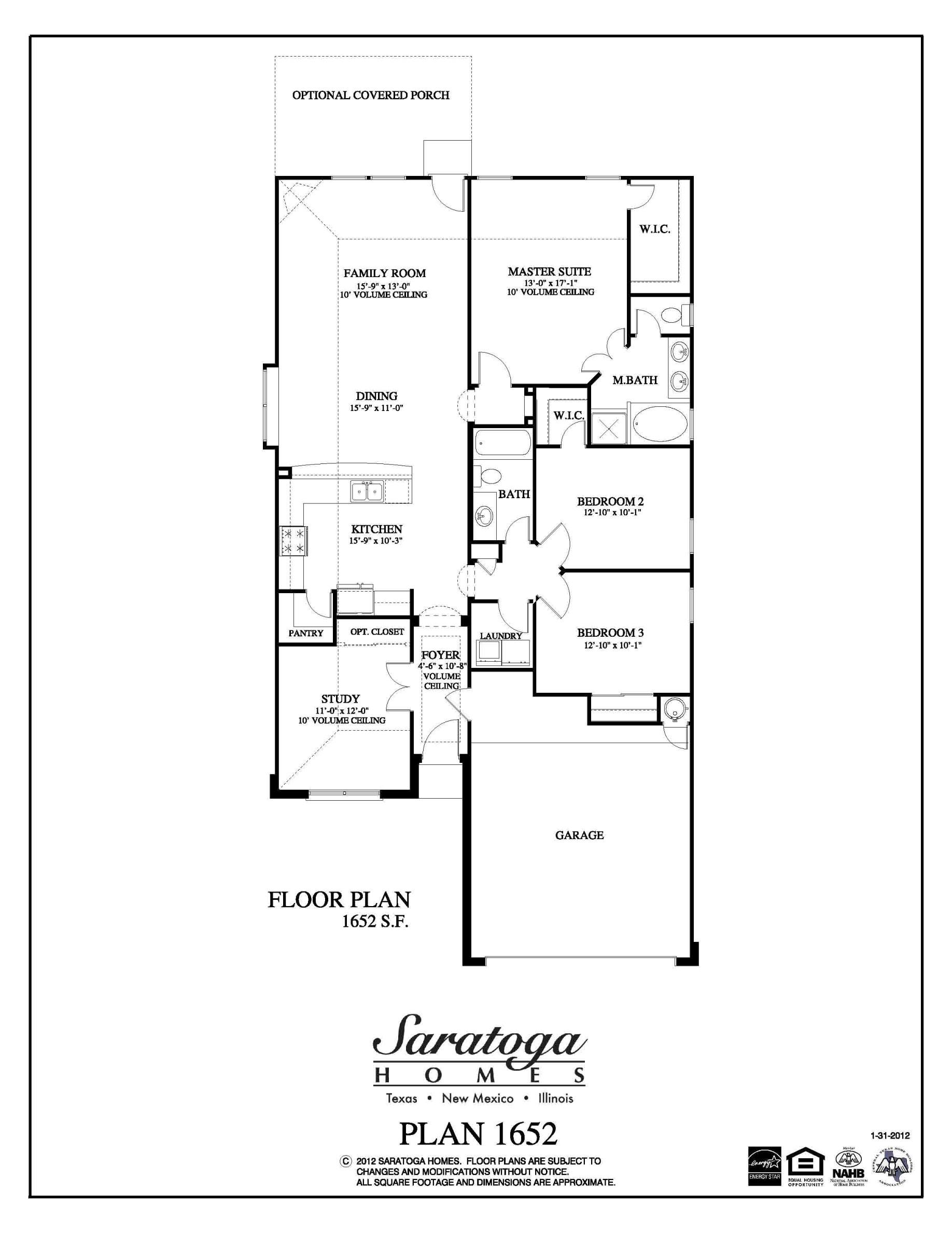 Saratoga Homes Floor Plans El Paso Tx  Gurus Floor