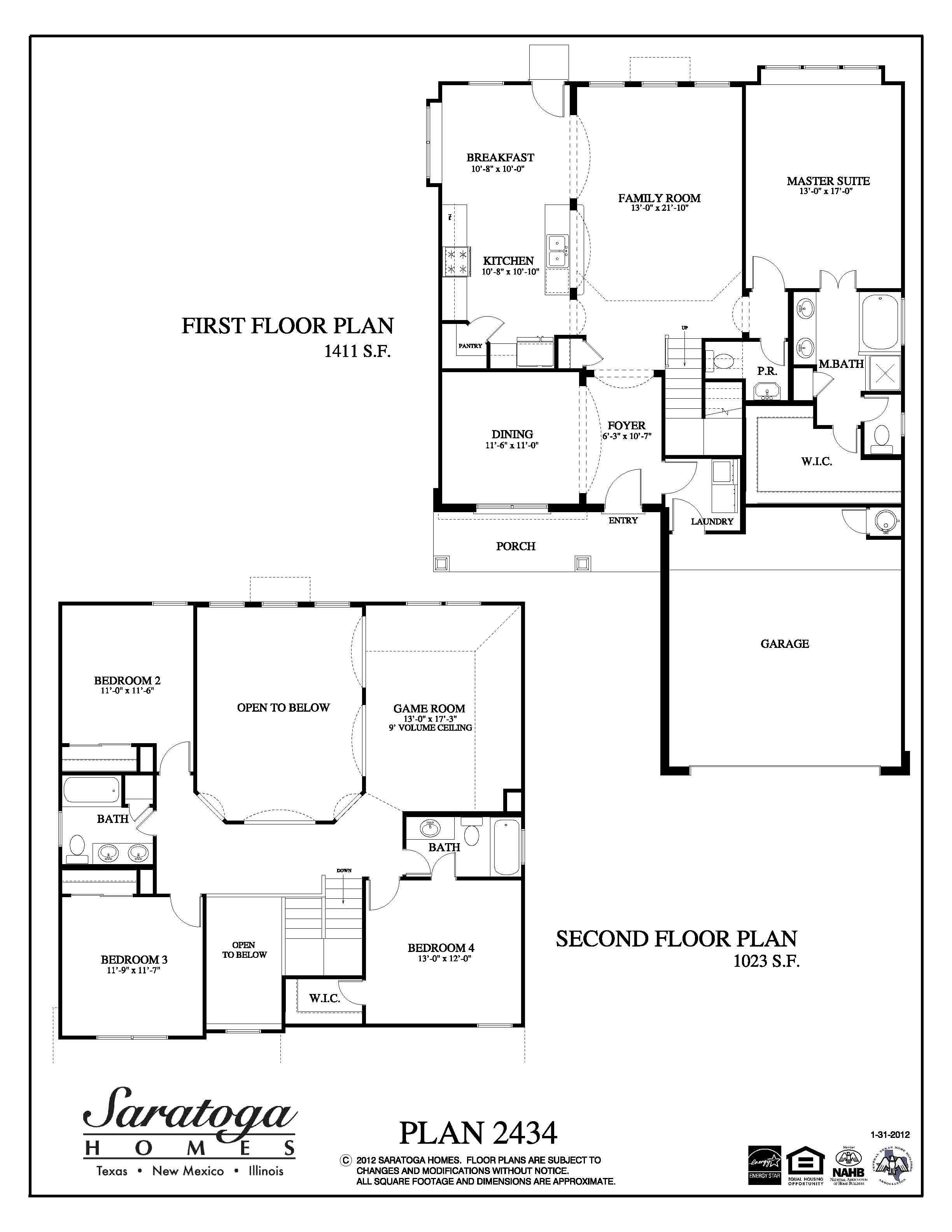 Plan 2434  Saratoga Homes Houston