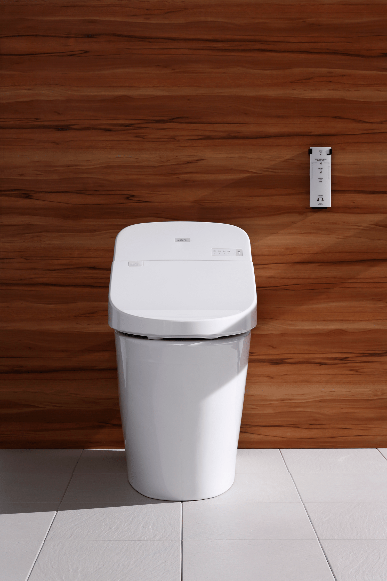 Sensoroperated washlet toilet with remote control  For