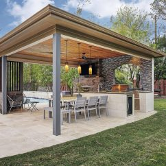 Covered Outdoor Kitchen Cutting Boards The Rise Of Detached Structures Remodeling Industry News Clean Lines And An Efficient Use Space Are Virtues This By Texas Custom Patios Show Caption Hide