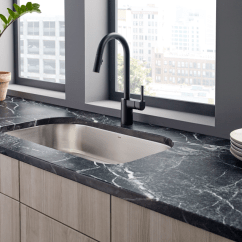 Kitchen Faucet Black Replace Sink Align In Matte For Residential Pros