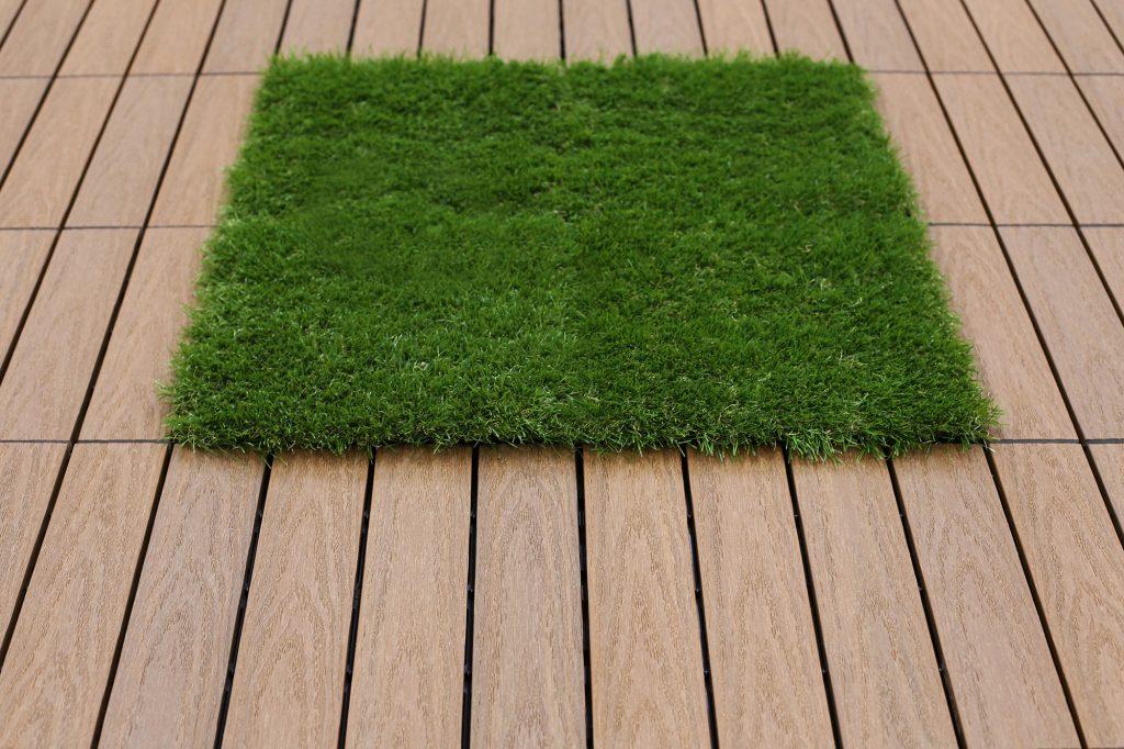 artificial grass deck tile remodeling