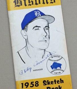 Buffalo Bisons 1958 Sketch Book