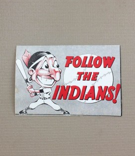 1940s Vintage Cleveland Indians Decal