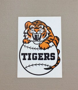1940s Vintage Detroit Tigers Decal