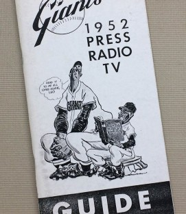 1952 New York Giants Press Guide