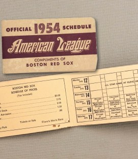 1954 Spalding American League Schedule