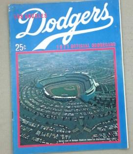 Los Angeles Dodgers 1971 Scorecard