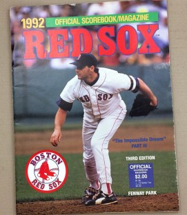 Boston Red Sox 1992 Program