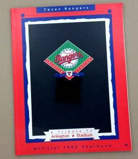 Texas Rangers 1993 Yearbook