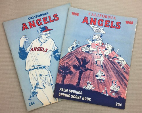 Angels 1967-68 Spring Training Programs