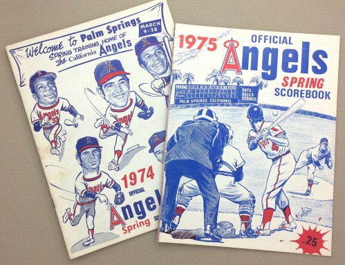 Angels 1974-75 Spring Training Programs