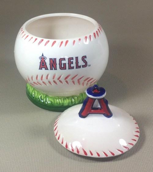 Los Angeles Angels Cookie Jar with Lid