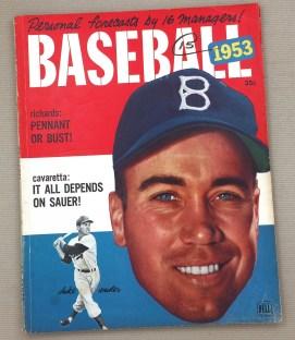 Dell Baseball 1953 Magazine