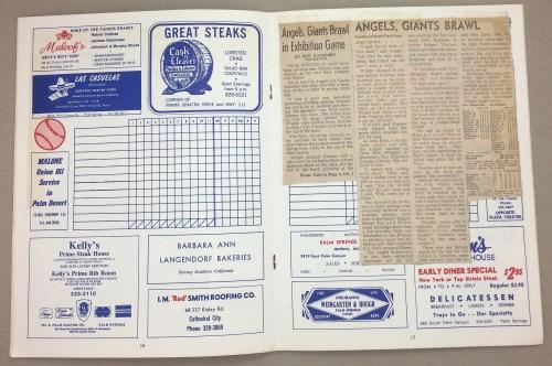 California Angels 1973 Spring Training Program