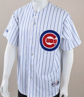 Chicago Cubs Majestic Striped Jersey