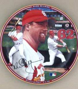 Mark McGwire Record Breaker Collectors Plate