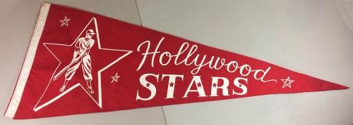 Hollywood Stars PCL Felt Pennant