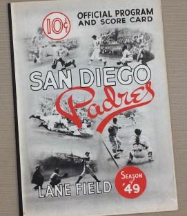 1949 San Diego Padres Program
