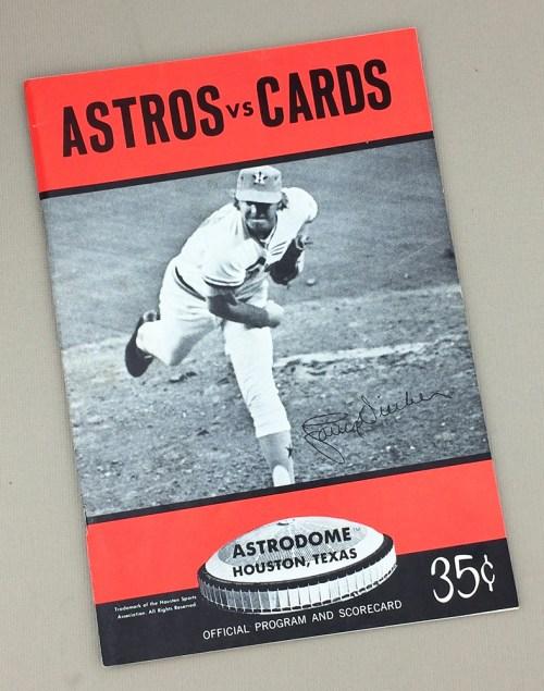 1970's era Houston Astros Game Program