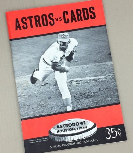 1970's era Houston Astros Game Program