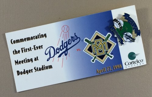 Los Angeles Dodgers vs Milwaukee Brewers Commemorative Pin