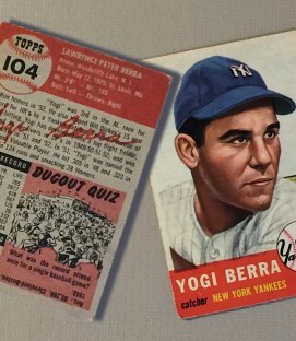 Yogi Berra 1953 Baseball Card