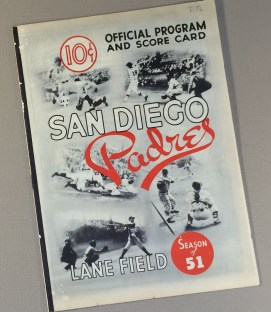 San Diego Padres 1951 Program