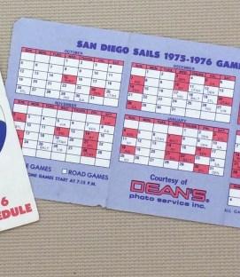 San Diego Sails Schedule