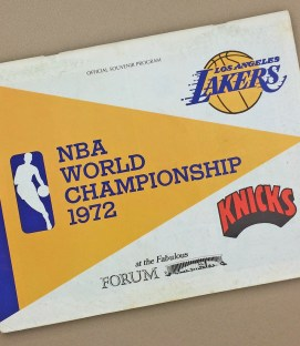 Lakers 1972 Finals Game 1 Program