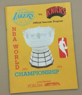 Lakers Knicks 1972 Game 5 Program