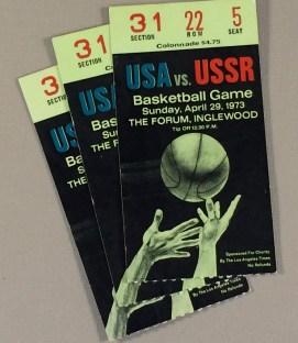 USA vs USSR Basketball Ticket Stubs