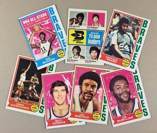 1974-75 Buffalo Braves Collectors Card Set