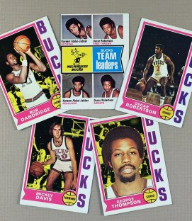 1974-75 Milwaukee Bucks Collectors Card Set