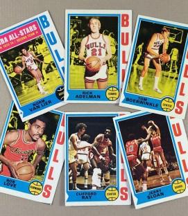 1974-75 Chicago Bulls Collectors Card Set