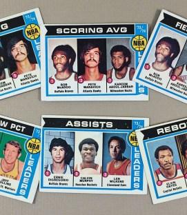 1974-75 NBA Leaders Collectors Card Set