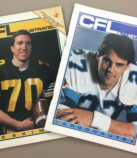 1985 CFL Illustrated Program Set