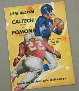 1962 CalTech vs Pomona Program