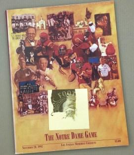 1992 USC Notre Dame Game Program